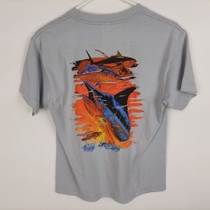 Guy Harvey's Boys T-shirt Size Medium Gray Marlin